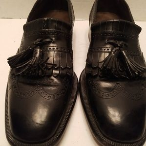 Cole Haan Bragano Black Leather Loafers 9.5D